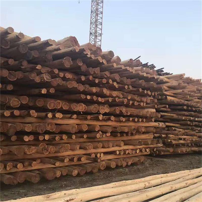 防腐油木杆,油炸杆,通信油木杆